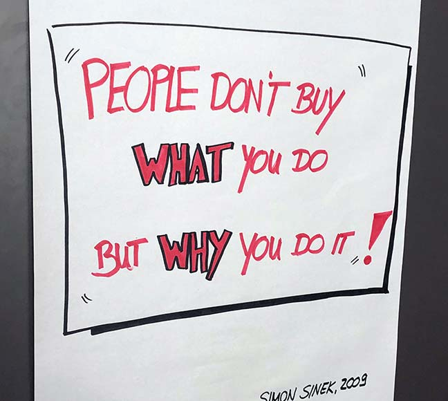People don't buy What you do but Why you do it!